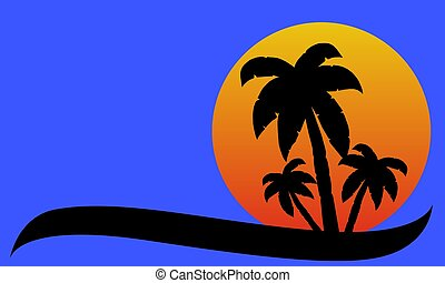 Palmtree Background abstract