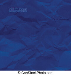 Creased blue paper vector seamless texture. Vector seamless...