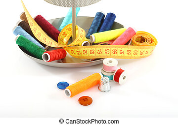 sewing supplies - Colorful sewing supplies close up