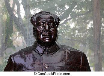 Sculpture Mao Zedong, also transliterated as Mao Tse-tung...