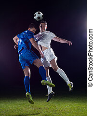 soccer players duel - soccer football team player game duel...
