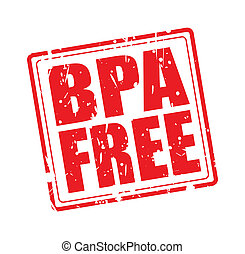 BPA FREE red stamp text on white