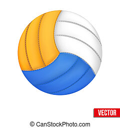 Volleyball in three colors. Vector. Isolated on white...