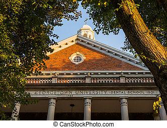 Entrance to Georgetown University medical school