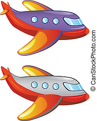 Cartoon Airplane - Colorful cartoon airplane illustration on...