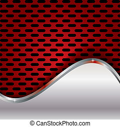 Abstract background, metallic red brochure