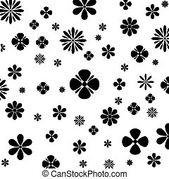 Flower Vector Black and Whitevector