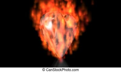 Burning Heart Looping Animation - A looping motion graphic...