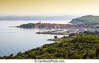 coast town Izola - Beautiful coast town Izola - Slovenia...