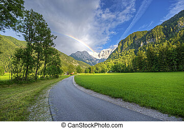 landscape - Beautiful landscapes with high mountains and...