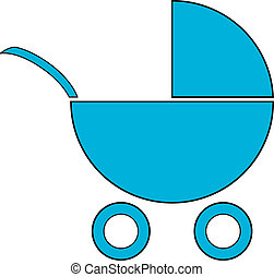 Pram icon on white background Vector illustration
