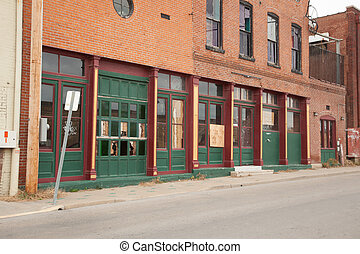 Store-Front - The front of old abandoned stores.