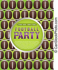 American Football Pattern Party Flyer - An American Football...
