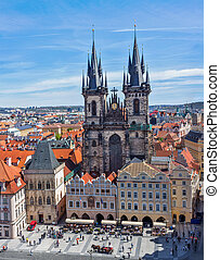 Tyn Church (Tynsky Chram), Prague - View of Tyn Church...