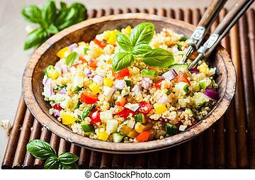 Quinoa Salad - Quinoa salad with cucumber,tomato and feta