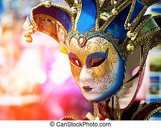 enetian carnival mask - Colorful Venetian carnival mask for...