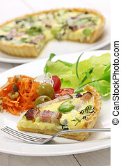 homemade quiche, French cuisine, party food