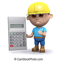 3d Builder with a calculator