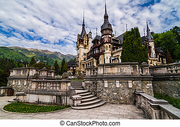 Peles Castle, Sinaia, Romania the former kingdom residence