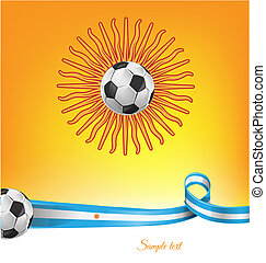 argentina flag  with soccer ball