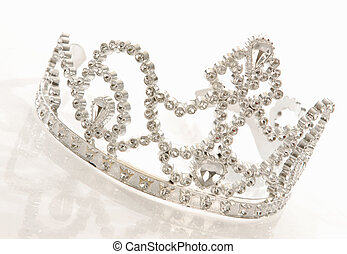 tiara or crown - crown or tiara isolated on a white...