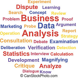 ANALYSIS - Business Data analysis Word cloud concept Vector...