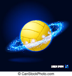 Volleyball high voltage - Realistic volley ball in blue...
