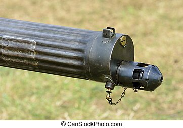 Machine gun barrel - Vintage machine gun Barrel