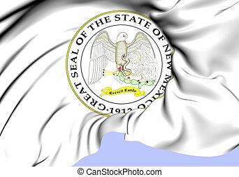 State Seal of New Mexico, USA.