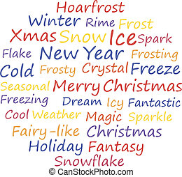 Merry xmas Word cloud concept Vector illustration
