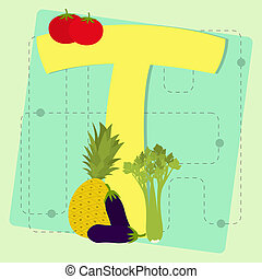 """Letter """"t"""" from stylized alphabet"""