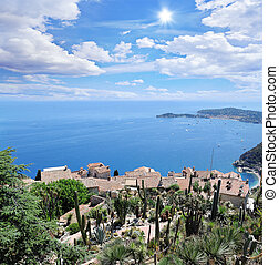 Villa in Eze village. Cote d'Azur. France.