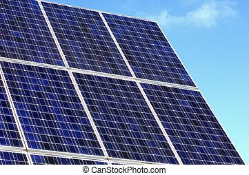 Solar panels of a solar power plant