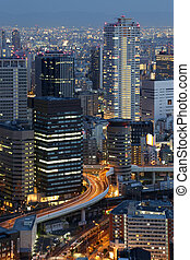 Osaka Japan Skyline - Osaka Japan city skyline and downtown...