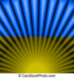 Ukrainian flag color Abstract light background geometric...
