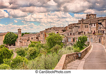 landscape of Colle di Val d'Elsa, Tuscany, Italy - landscape...