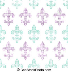 Abstract textile fleur de lis stripes seamless pattern...