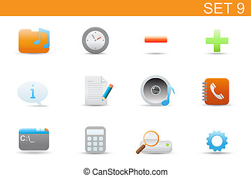 web icons - illustration set of elegant simple icons for...