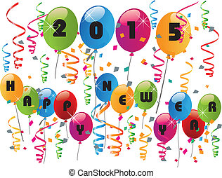 2015 New Year card vector design - 2015 New Year Happiness...