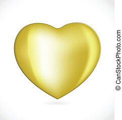 Gold valentines day heart logo