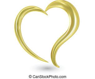 Swoosh valentines heart logo