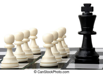 Chess power - one powerful player against a team in chess
