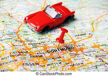 Dortmund , Germany  map auto