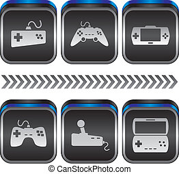 game console theme vector graphic art design illustration