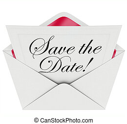 Save the Date Invitation Party Meeting Event Envelope...