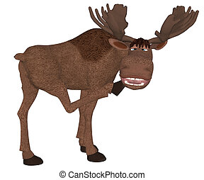 cartoon moose