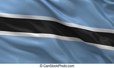 Flag of Botswana seamless loop - Flag of Botswana gently...