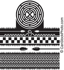 native american pattern vector graphic art illustration