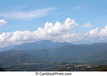 Mountain peaks - landscape with mountain peaks as place for...
