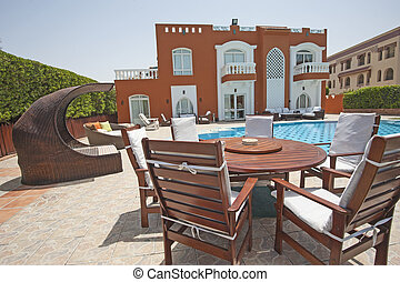 Luxury villa in tropical resort